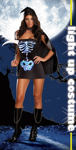 DG5929 Maya Remains Fancy Dress Skeleton Halloween Costume-Costume-Dreamgirl-Large-Miss Hollywood Sexy Shoes