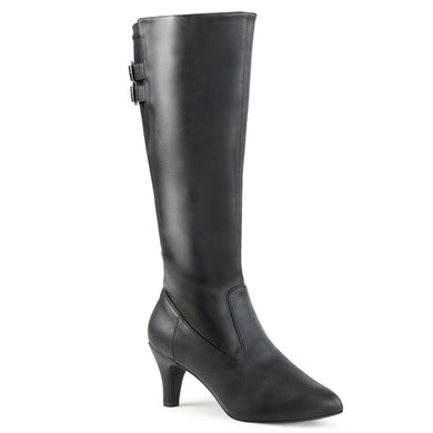 Sexy DIVINE-2018 Pleaser Sexy Boots 3 Inch Block Heel Wide Width/Shaft Boots  Pleaser - Miss Hollywood - Sexy Shoes