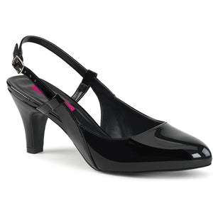 DIVINE-418 Pleaser Sexy Shoes 3 Inch Block Heel d'orsay Style Slingback Shoes Pumps