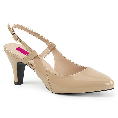 DIVINE-418 Sexy Shoes 3 Inch Block Heel Slingback Shoes Pumps