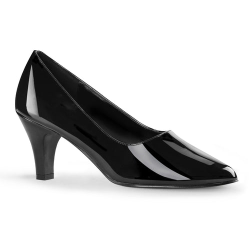 DIVINE-420 Pleaser Sexy Shoes 3 Inch Block Heel Classic Shoes Pumps