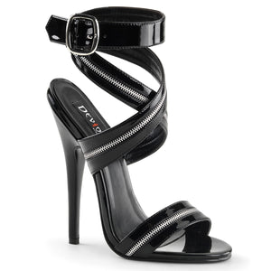 DOMINA-119 Devious 6 Inch Heel Black Patent Erotic Shoes-Devious-Miss Hollywood Sexy Shoes