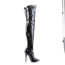 Load image into Gallery viewer, DOMINA-3000 Devious 6 Inch Heel Black Patent Kinky Boots-Devious-Miss Hollywood Sexy Shoes