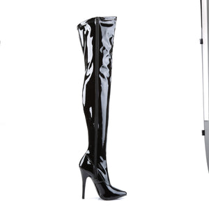 DOMINA-3000 Devious 6 Inch Heel Black Patent Kinky Boots-Devious-Miss Hollywood Sexy Shoes