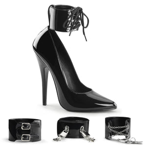 DOMINA-434 Devious 6 Inch Heel Black Patent Erotic Shoes