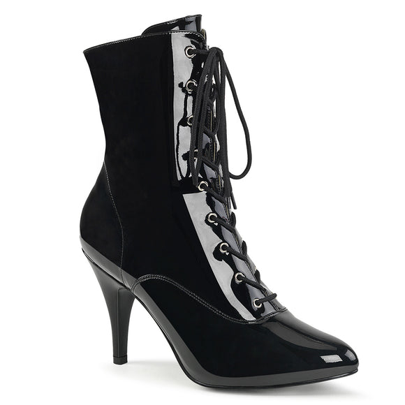 DREAM-1020 Pleaser Sexy Shoes 4 Inch Heel Stiletto Heel Lace Up Ankle Boot