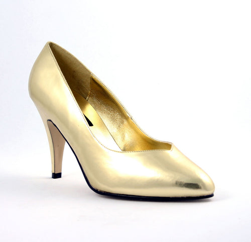 DREAM-420W Pleaser 4 Inch Heel Gold Fetish Footwear