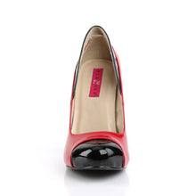 "Load image into Gallery viewer, EVE-07 Pink Label 5"" Heel Black and Red Platform Shoes"