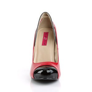 "EVE-07 Pink Label 5"" Heel Black and Red Platform Shoes"