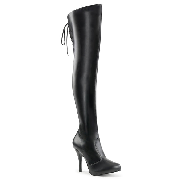 EVE-312 Pleaser Sexy Shoes 5 Inch Heel Stiletto Heel Lace Up Back Thigh High Boot