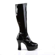 "Load image into Gallery viewer, EXOTICA-2000 Funtasma 4"" Black Stretch Patent Women's Boots"