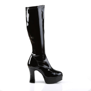 "EXOTICA-2000 Funtasma 4"" Black Stretch Patent Women's Boots"