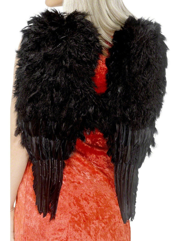 SM20900 Sexy Black Feather Halloween Wings - Miss Hollywood