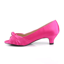 Load image into Gallery viewer, FAB-422 Pink Label 2Inch Heel Hot Pink Satin Fetish Footwear
