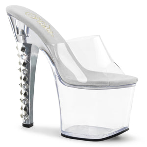 "FEARLESS-701 Pleaser 7"" Heel Clear Pole Dancing Platforms"