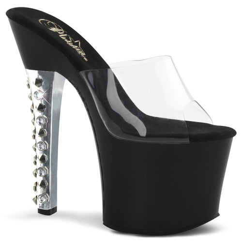 FEARLESS-701 Pleaser Sexy Shoes 7 Inch Heel Bling Spikes Heels-Pleaser-Miss Hollywood Sexy Shoes