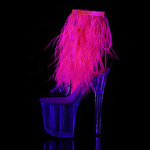 Load image into Gallery viewer, Sexy FLAMINGO-1017MFF Pleaser Sexy Shoes 8 Inch Heel Platforms Fur Fringed Ankle Boots  Pleaser - Miss Hollywood - Sexy Shoes
