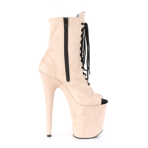 "FLAMINGO-1021FS Pleaser 8"" Heel Beige Pole Dancing Platforms"