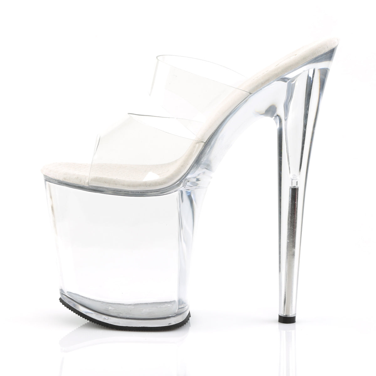 6435072bb65 FLAMINGO-802 Pleaser Sexy Shoes 8 Inch Heel Two Band Platform Slide ...