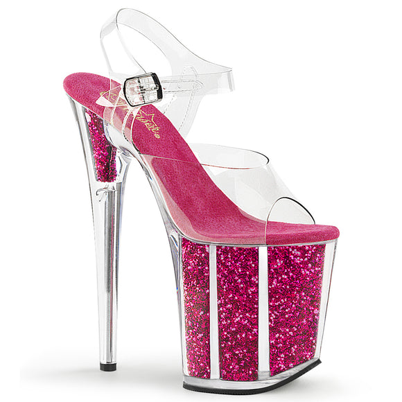 FLAMINGO-808G Pleaser Sexy Shoes 8 Inch Heel Ankle Strap Platform Sandals