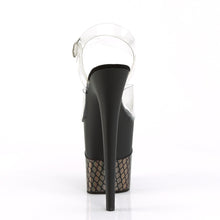 "Load image into Gallery viewer, FLAMINGO-808HFN 8"" Heel Clear Black Bronze Strippers Shoes-Pleaser- Sexy Shoes Fetish Footwear"