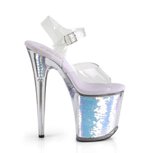 "Load image into Gallery viewer, FLAMINGO-808MC 8"" Heel Clear Lavender Holo Strippers Shoes"