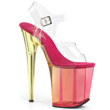 Load image into Gallery viewer, FLAMINGO-808MCT 8 Inch Heel ClearPink Tinted Strippers Shoes-Pleaser- Sexy Shoes