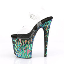 Load image into Gallery viewer, FLAMINGO-808SPLA-1 Clear Black-Purple-Green Holo Sexy Shoes