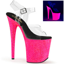 Load image into Gallery viewer, Sexy FLAMINGO-808UVG Pleaser Sexy Shoes Neon Glitter Strippers Ankle Strap Sandals  Pleaser - Miss Hollywood - Sexy Shoes