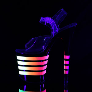 Sexy FLAMINGO-808UVLN Pleaser Sexy Shoes Neon Uv Stripe Strippers Ankle Strap Sandals  Pleaser
