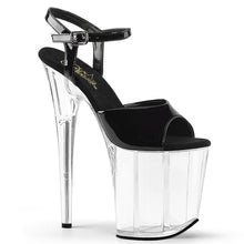 "Load image into Gallery viewer, FLAMINGO-809 8"" Heel Black and Clear Pole Dancing Platforms"