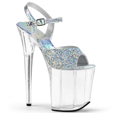 93a45593a3 FLAMINGO-809RS Pleaser Sexy Shoes 8 Inch Heel Ankle Strap Platform Bling  Sandals