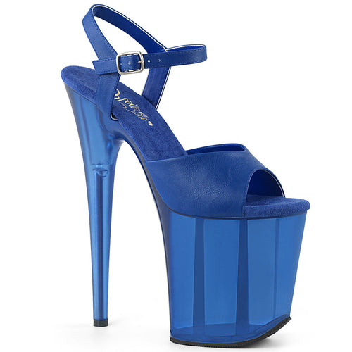 FLAMINGO-809T Pleaser 8 Inch Heel Blue Pole Dancer Platforms