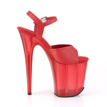 Load image into Gallery viewer, FLAMINGO-809T Pleaser 8 Inch Heel Red Pole Dancing Platform