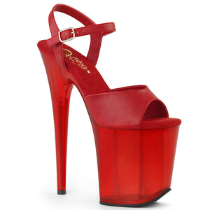 FLAMINGO-809T Pleaser 8 Inch Heel Red Pole Dancing Platform-Pleaser-Miss Hollywood Sexy Shoes