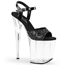 "Load image into Gallery viewer, FLAMINGO-810 8"" Heel Black Glitter Pole Dancing Platforms"
