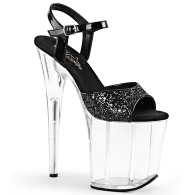 FLAMINGO-810 Pleaser Sexy Shoes 8 Inch Heel Ankle Strap Platform Sandals - Pleaser Shoes UK Supplier