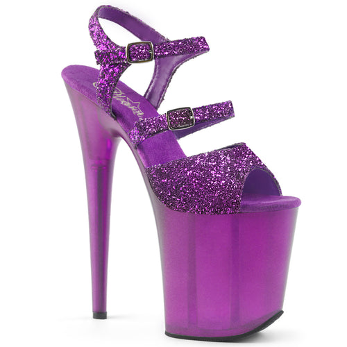 Sexy FLAMINGO-874 Sexy Pole dancing High Heel Shoes with Frosted Platforms  Pleaser