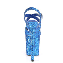 Load image into Gallery viewer, FLAMINGO-897LG Pleaser Platforms (Exotic Dancing) - Sexy Royal Blue Glitter/Royal Blue Glitter Fetish Footwear-Pleaser-Miss Hollywood Sexy Shoes Fetish Footwear
