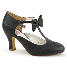 "Load image into Gallery viewer, FLAPPER-11 Pin Up Couture Glamour 3"" Heel Black Fetish Shoes"