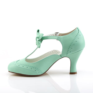 "FLAPPER-11 Pin Up Couture Glamour 3"" Heel Mint Fetish Shoes"