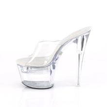 "Load image into Gallery viewer, FLASHDANCE-701 Pleaser 7"" Heel Clear Pole Dancing Platforms"