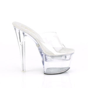 "FLASHDANCE-701 Pleaser 7"" Heel Clear Pole Dancing Platforms"