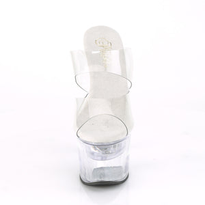 "FLASHDANCE-702 Pleaser 7"" Heel Clear Pole Dancing Platforms"