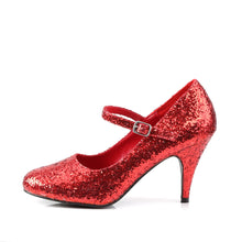 Load image into Gallery viewer, GLINDA-50G Funtasma Sexy Shoes 3 Inch Heel, Red Glittre Mary Jane Shoe, Glitter