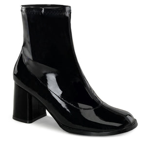 "GOGO-150 Funtasma 3"" Heel Black Stretch Patent Women's Boots"