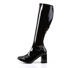"Load image into Gallery viewer, GOGO-300 Funtasma 3"" Heel Black Stretch Patent Women's Boots"