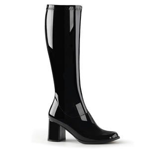 "GOGO-300 Funtasma 3"" Heel Black Stretch Patent Women's Boots"