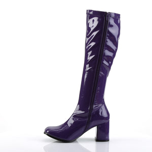 GOGO-300 Funtasma 3 Inch Heel Purple Women's Boots-Funtasma- Sexy Shoes Pole Dance Heels