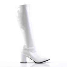 Load image into Gallery viewer, GOGO-300 Funtasma 3 Inch Heel White Patent Women's Boots